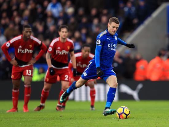 Vardy and Mahrez fire Foxes to victory over struggling Watford