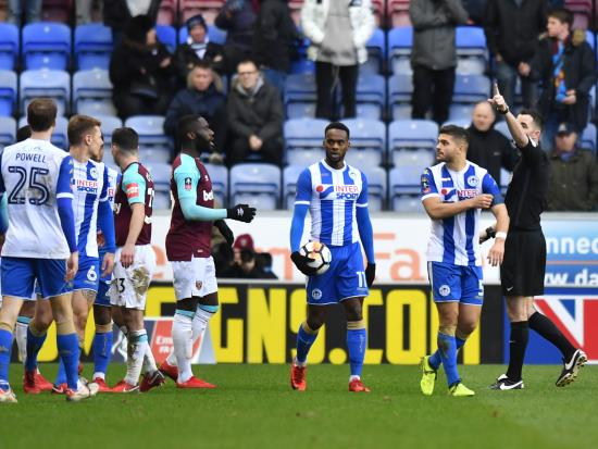 Moyes vents anger at Masuaka after Wigan knock West Ham out of FA Cup