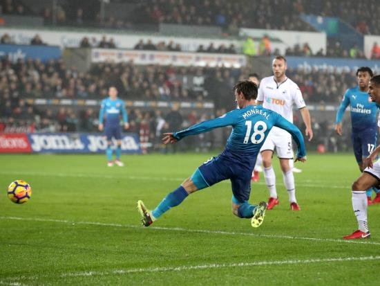 Swansea City 3-1 Arsenal: Swansea climb out of drop zone with victory over Arsenal