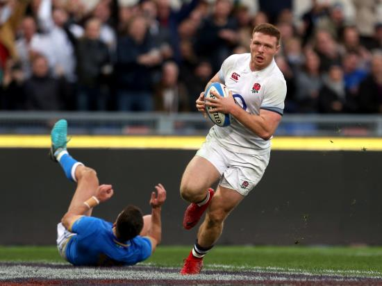 England open Six Nations hat-trick bid with routine win over Italy