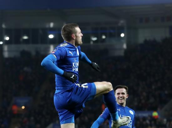 Vardy header sinks Blades and sends Leicester into last eight