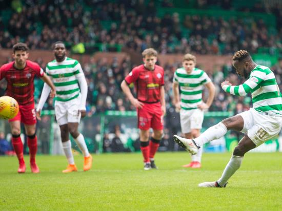 Moussa Dembele at the double as Celtic see off Morton to reach cup semi-finals