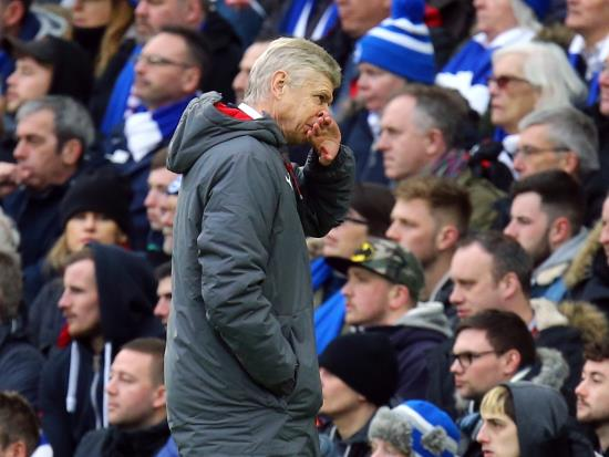 Brighton & Hove Albion 2 - 1 Arsenal: Brighton rock Wenger as pressure mounts on French boss