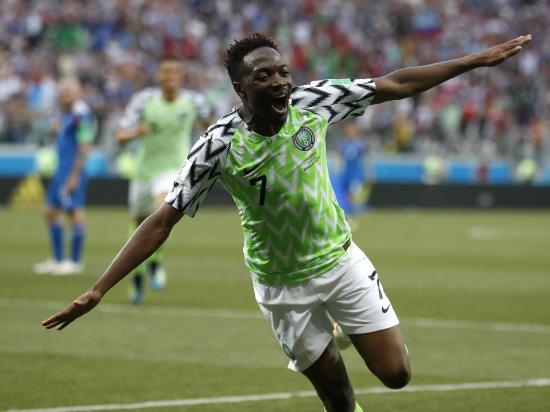 Ahmed Musa at the double as Nigeria beat Iceland