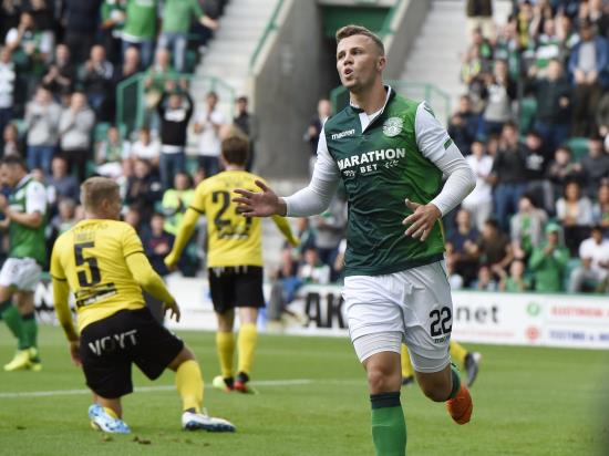 Hibs hit six to all but seal Europa League progress
