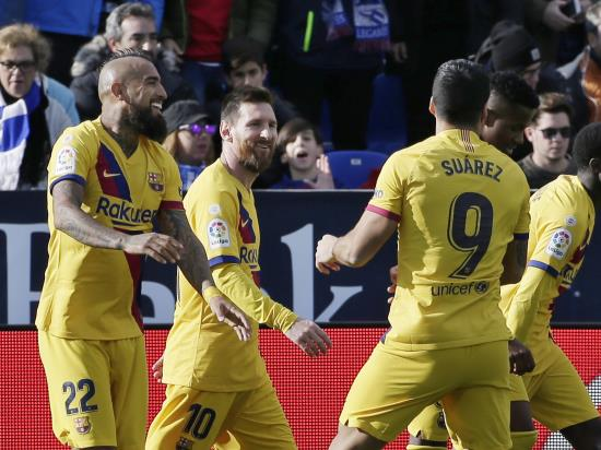 Arturo Vidal snatches Barcelona victory at Leganes