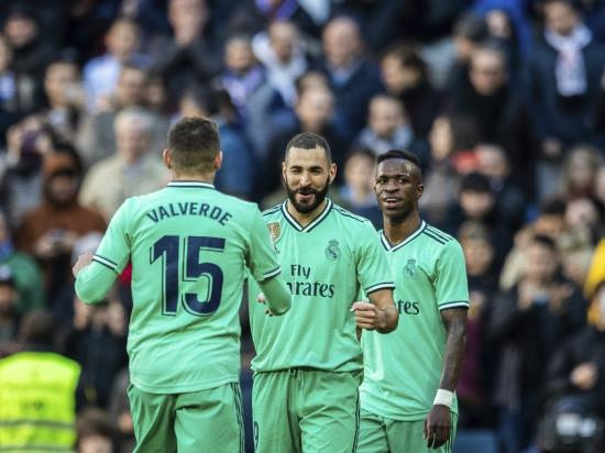 Raphael Varane and Karim Benzema goals guide Real Madrid to win over Espanyol