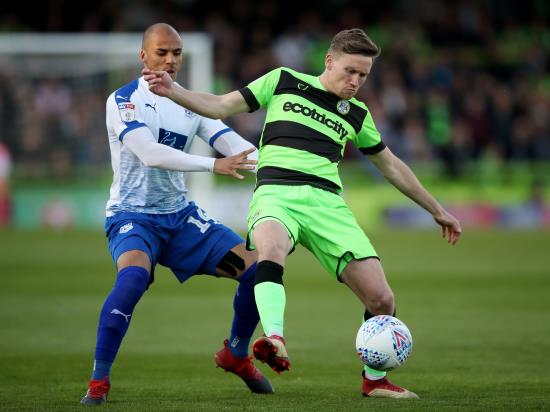 Forest Green's Dayle Grubb sidelined after tweaking hamstring getting out a car