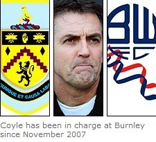 Burnley boss Owen Coyle closes in on Bolton switch