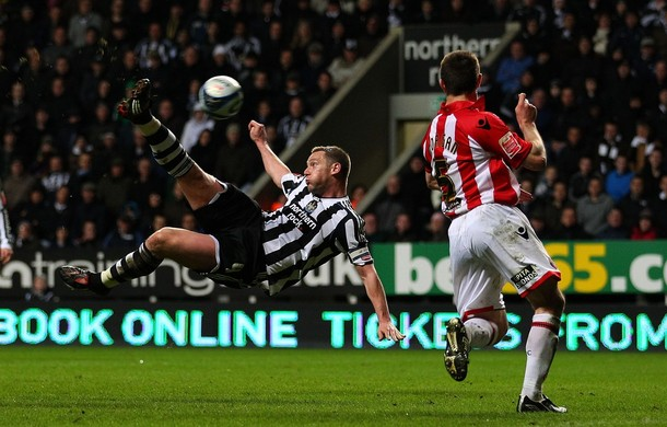 Newcastle celebrate with Kevin Nolan classic against Sheffield United