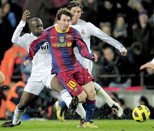 real madrid vs barcelona 1-1 messi goal. Barcelona v Real Madrid: Four