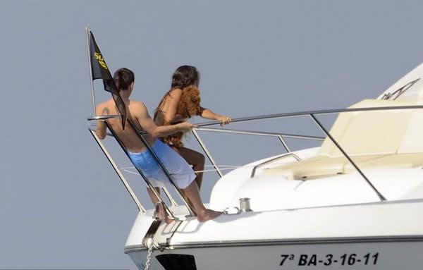 Lionel Messi and Antonella Summer in Ibiza