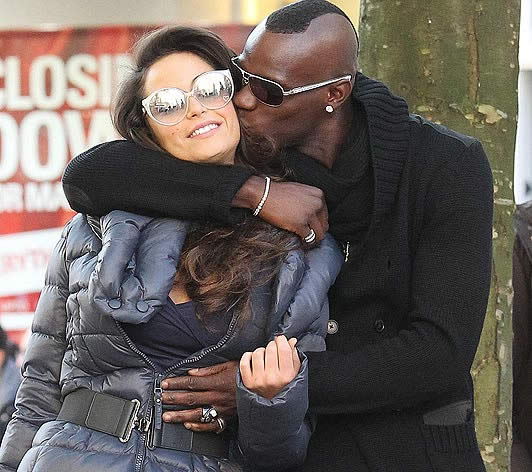 Mario Balotelli & the 32FF porn star - Footballer's secret date while girlfriend is away