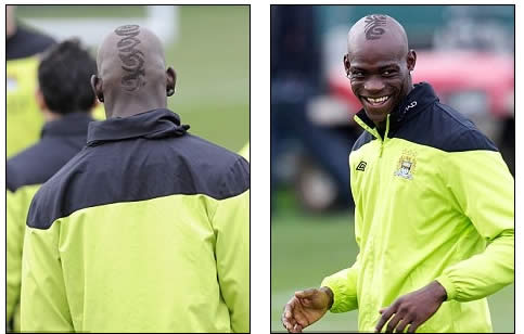 Hair we go! Balotelli's barnet goes down a storm as Man City striker unveils mohican