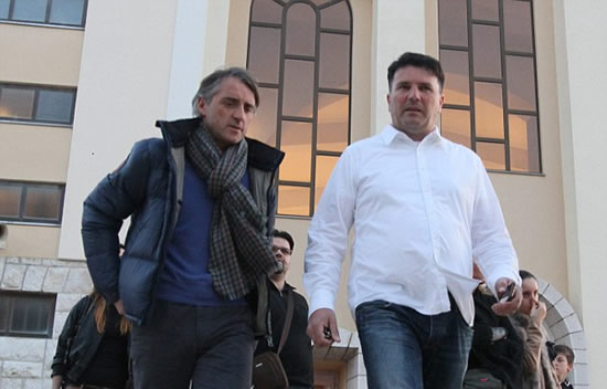 Time for prayers? Mancini takes break from mind games at religious site in Bosnia