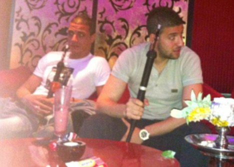 Wenger fuming with Chamakh after Arsenal flop is caught with shisha pipe