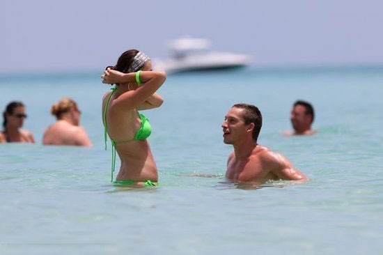 Holosko Was Enjoying His Holiday With Lovely Wife On The Beach