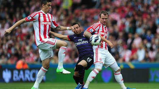 Gunners fail to fire against Stoke