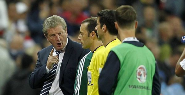 Hodgson furious at ref Cakir after Gerrard sees red and Defoe has goal chalked off