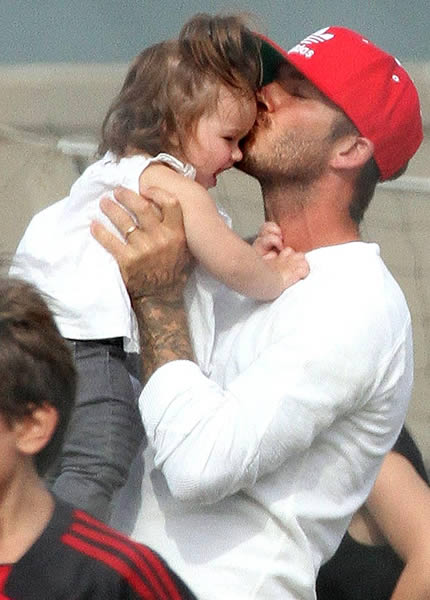 David Beckham's Harper heaven