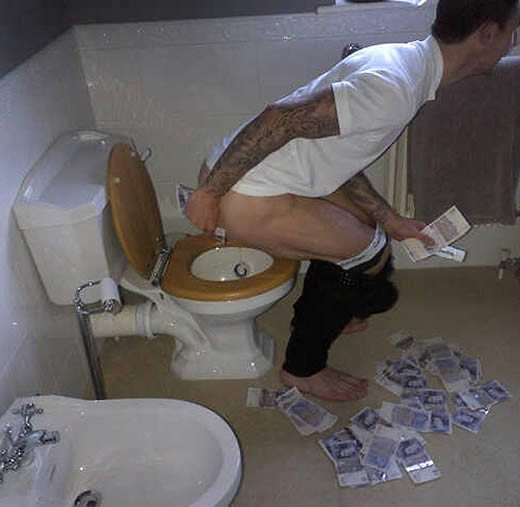The vilest footballer in Britain - West Brom's £20k-a-week Liam Ridgewell in sick pose
