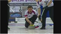 Action from session four at the Men's World Curling Championships