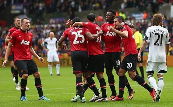 Swansea City 1-4 Manchester United: Van Persie & Welbeck doubles give