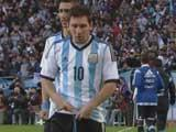 Argentina manager attributes Lionel Messi's vomiting during matches to 'nerves'