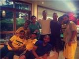 Manchester United Reunion! Rio Ferdinand is watching Brazil v Croatia round the Da Silvas' house