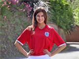 Miss England shows support for Three Lions team