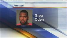 Oden arrested after punching ex-girlfriend