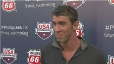 Phelps swimming again for himself