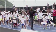Bolt dances with favela children