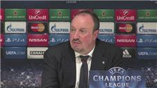 Benitez disappointed with Champions League exit