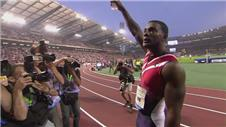 Gatlin storms to sprint double in Diamond League