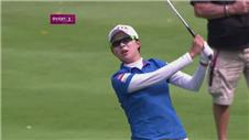 Kim regains Evian lead