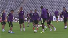 Manchester City train ahead of Munich clash
