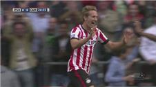 PSV rout Cambuur to stay top