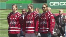 The Washington Capitals unveil their uniforms