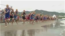 Action from Turkey's Triathlon World Cup
