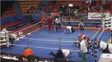 Croatian boxers sickening attack on referee