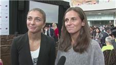 Players react to the WTA Finals doubles draw [AMBIENT]