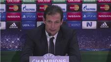 Allegri sad about defeat to Olympiacos