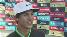 Olesen overjoyed beating Dubuisson in Perth