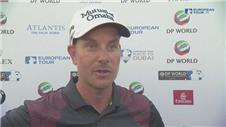 Players react after the DP World Tour third round