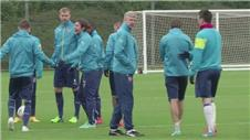 Arsenal train ahead of must-win Dortmund match