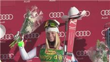Gut triumphs in Super G at Lake Louise