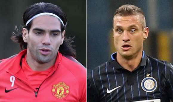 Falcao's first-team hopes scuppered as Vidic rubbishes rumours of shock return