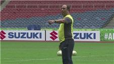 Malaysia train for the Suzuki Cup final