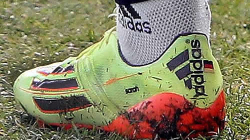 Bastian Schweinsteiger suggests he's done with Sarah Brandner by blacking out her name on his boots